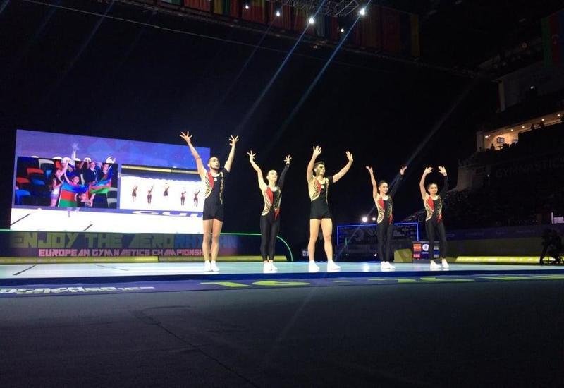Команда Азербайджана прошла в финал Чемпионата Европы по аэробной гимнастике среди групп