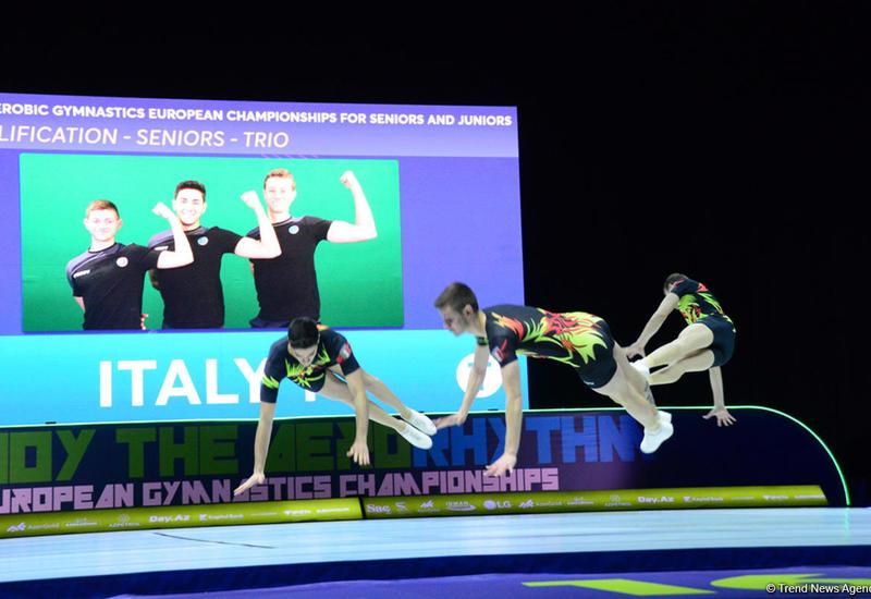 В Баку определились финалисты Чемпионата Европы по аэробной гимнастике среди трио