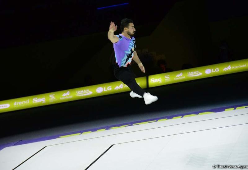 В Баку определились финалисты Чемпионата Европы по аэробной гимнастике в мужской индивидуальной программе