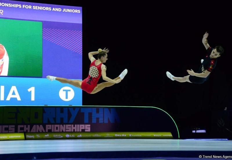 В Баку определились финалисты Чемпионата Европы по аэробной гимнастике среди смешанных пар