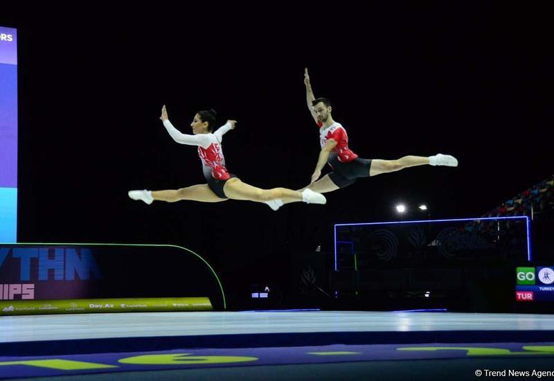 Лучшие моменты второго дня Чемпионата Европы по аэробной гимнастике в Баку