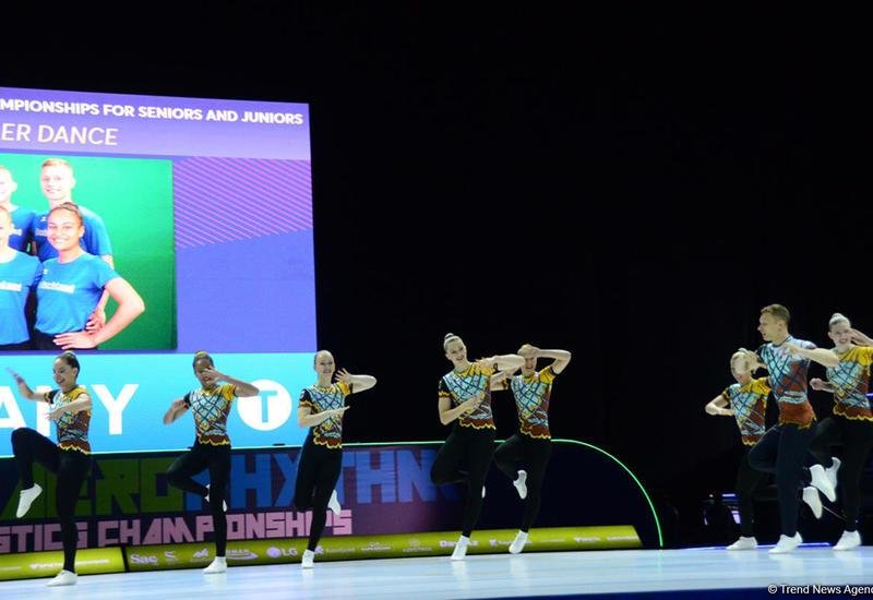 В Баку стартовал второй день соревнований Чемпионата Европы по аэробной гимнастике