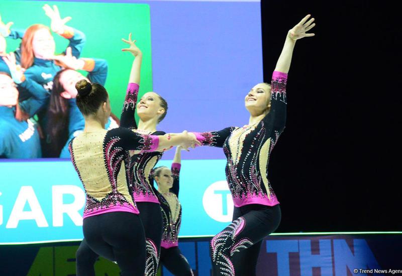 Продолжаются соревнования в рамках второго дня Чемпионата Европы по аэробной гимнастике в Баку