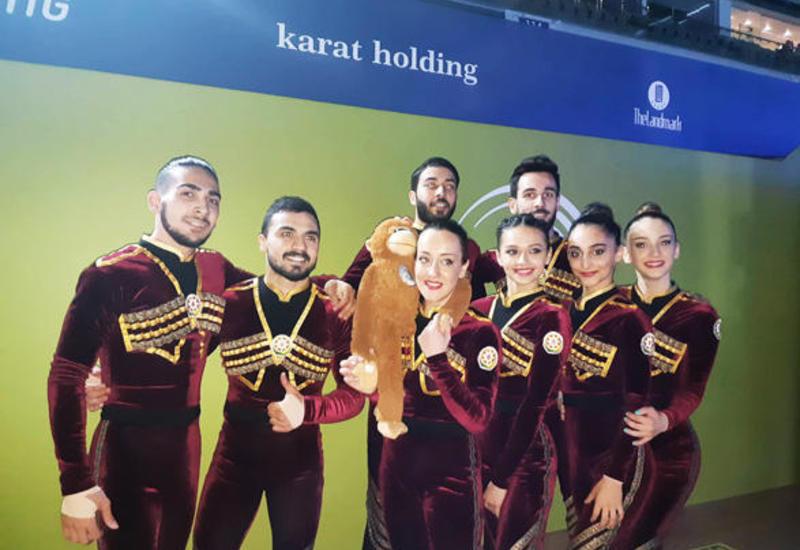 Команда Азербайджана вышла в финал Чемпионата Европы по аэробной гимнастике в программе аэро-данс