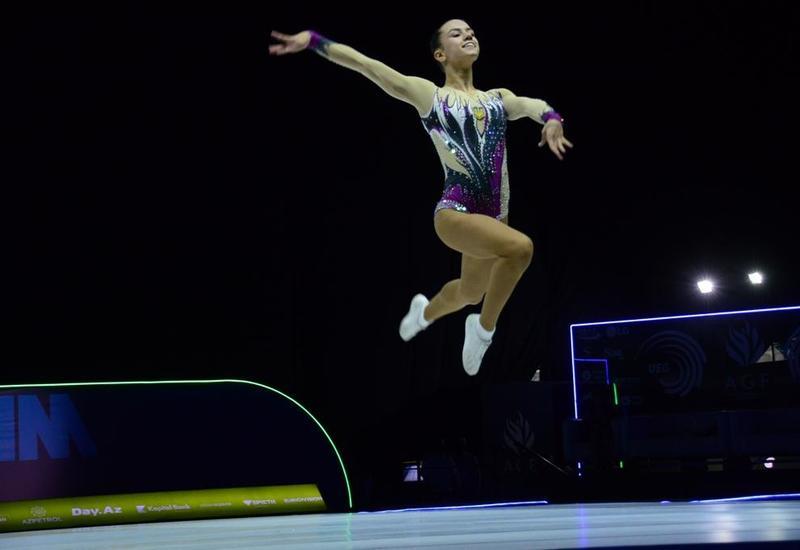 Российская гимнастка заняла первое место на Чемпионате Европы в Баку в индивидуальной программе среди юниоров