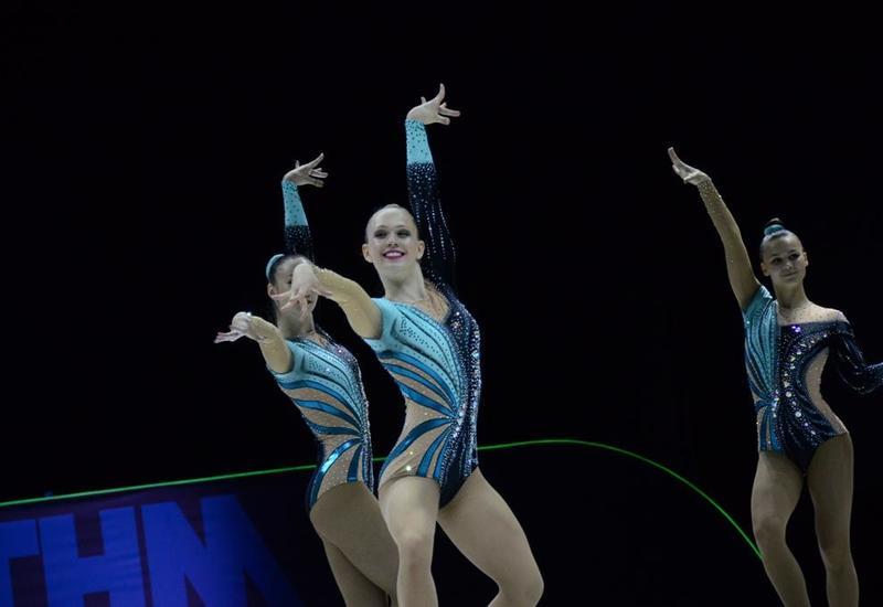 В Баку продолжаются финальные соревнования 11-го Чемпионата Европы по аэробной гимнастике