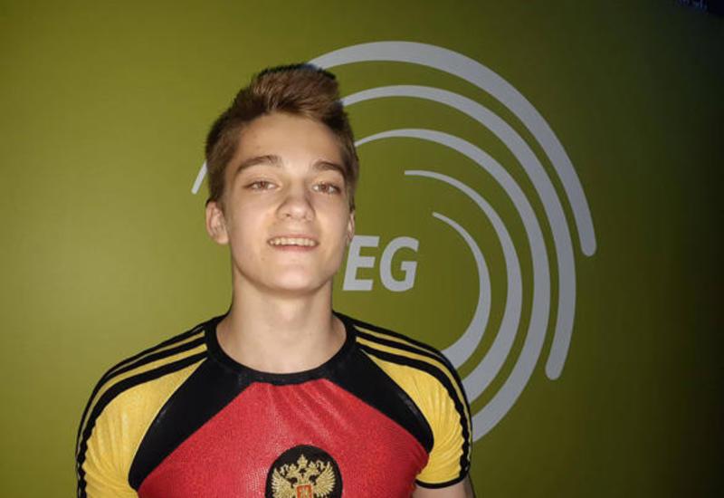 Антон Колобов завоевал золото на Чемпионате Европы в Баку в индивидуальной программе среди юниоров