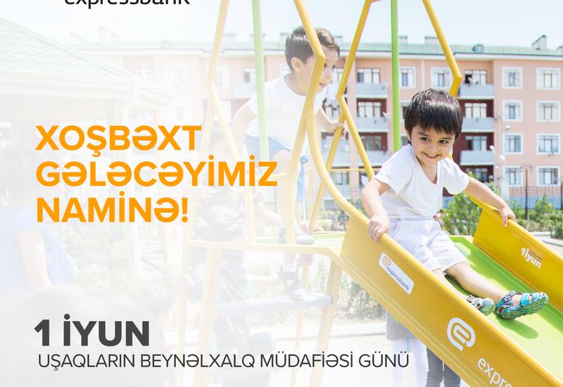 Expressbank cəbhəyanı bölgədə uşaqları sevindirdi