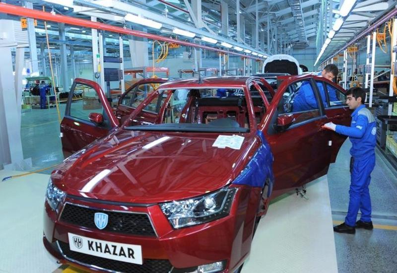 В Азербайджане почти в 4 раза выросло производство автомобилей