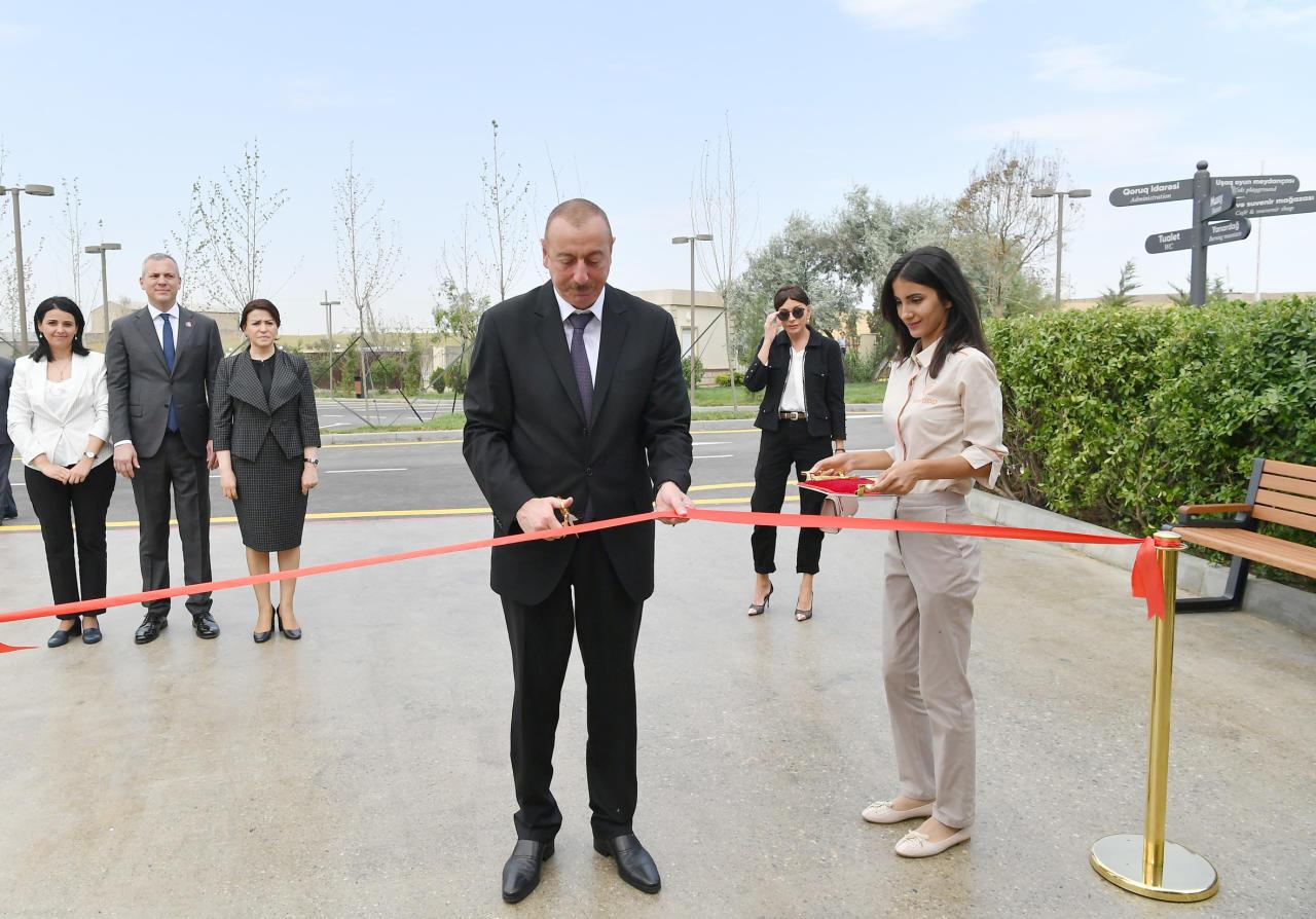 Президент Ильхам Алиев и Первая леди Мехрибан Алиева приняли участие в открытии заповедника «Янардаг» после капитальной реконструкции