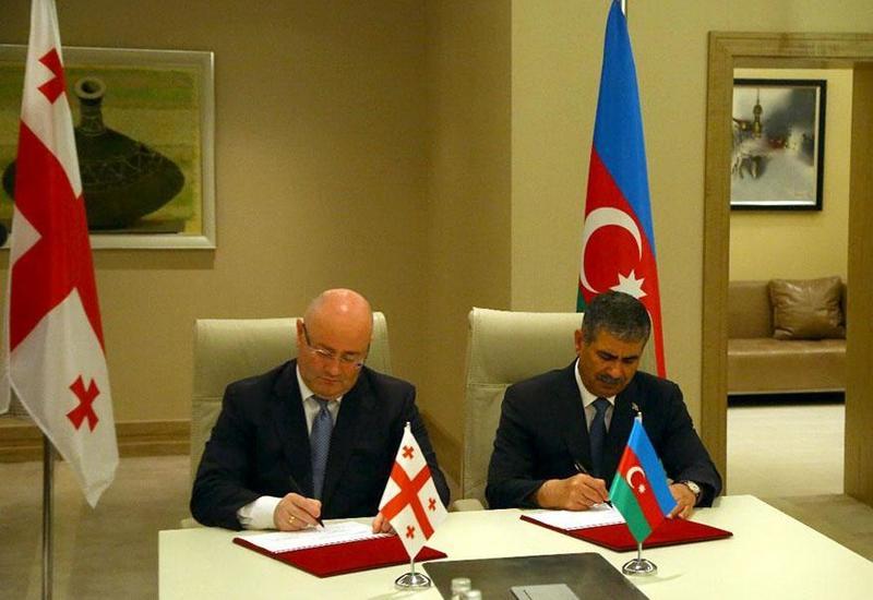 Министры обороны Азербайджана и Грузии подписали важное соглашение