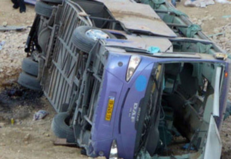 Türkiyədə sərnişin avtobusu aşdı: çox sayda yaralı var