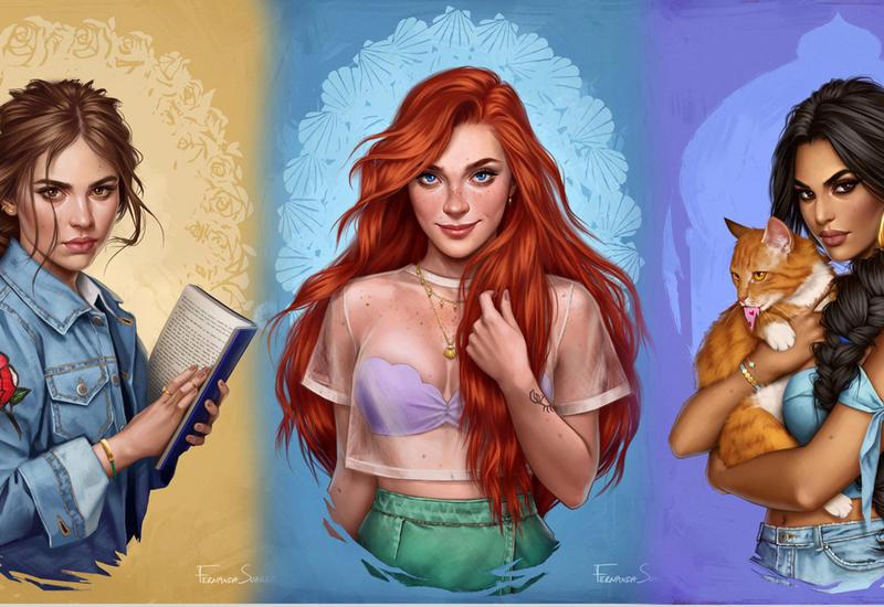 Вот как выглядели бы принцессы Disney в наше время
