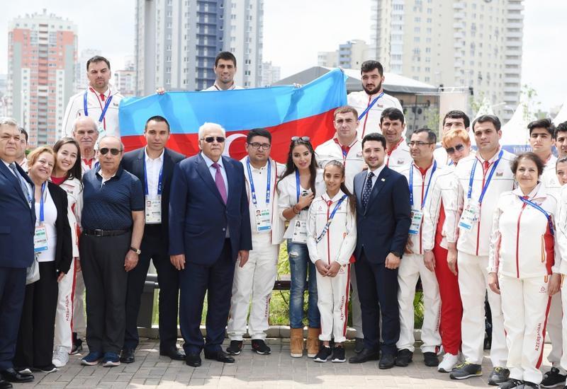 Вице-президент Фонда Гейдара Алиева Лейла Алиева встретилась с азербайджанскими спортсменами-участниками II Европейских игр