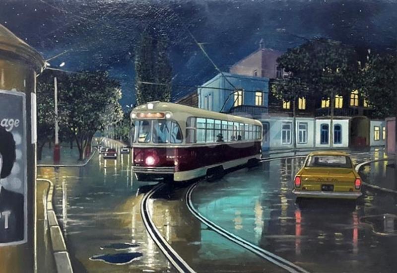 Бакинский транспорт на картинах художников