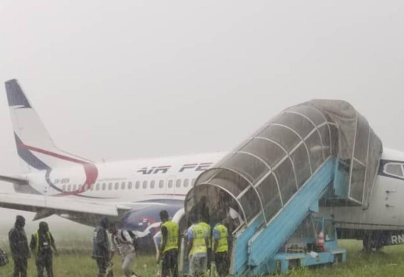Неудачная посадка пассажирского авиалайнера Boeing попала на видео