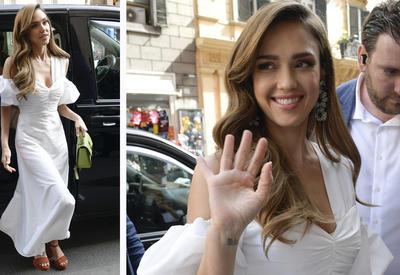 """Джессика Альба показала самое эффектное белое платье на лето <span class=""""color_red"""">- ФОТО</span>"""