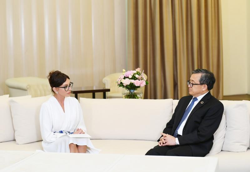 Первый вице-президент Мехрибан Алиева встретилась с заместителем генерального секретаря ООН