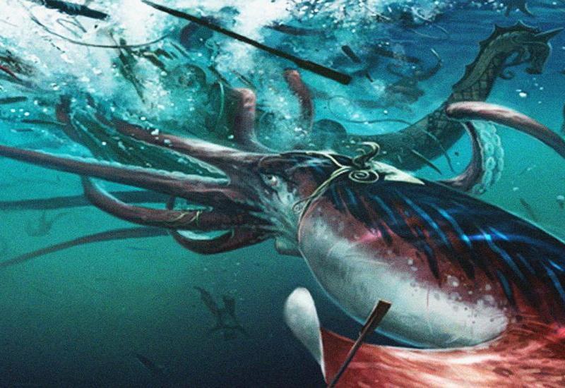 Гигантский кальмар размером с автомобиль попал на камеру, напугав учёных