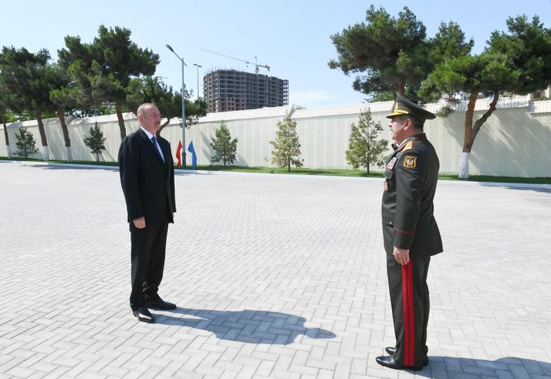 Президент Ильхам Алиев ознакомился с условиями, созданными после реконструкции в Военном лицее имени Джамшида Нахчыванского