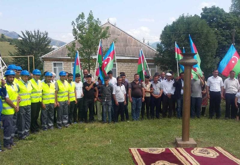 В Гедабеке газифицировали ещё три села
