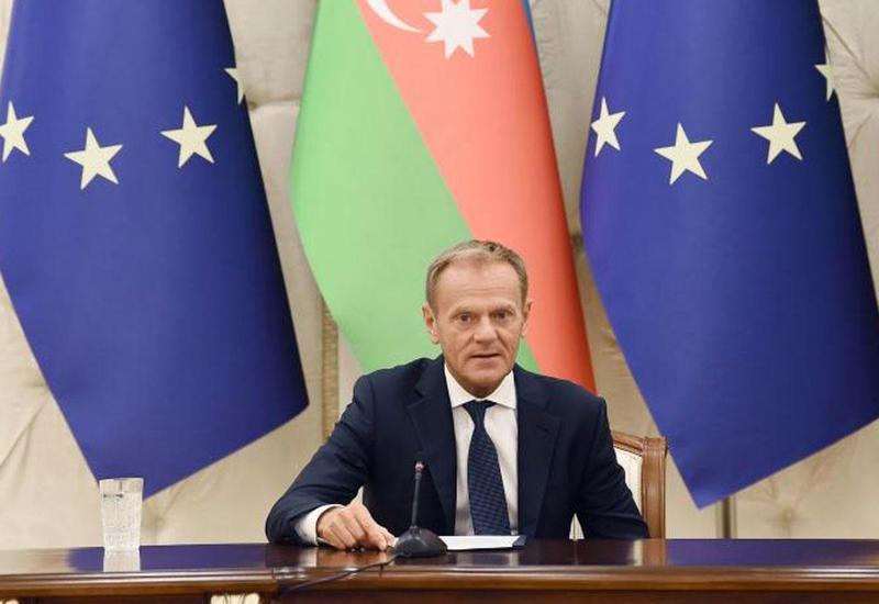 Дональд Туск: Переговоры по Соглашению об общем авиационном пространстве, а также новому соглашению между ЕС и Азербайджаном близки к завершению