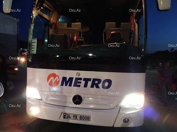 Автобус маршрута Стамбул-Баку попал аварию