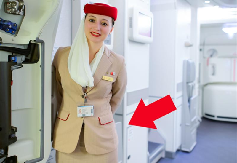 Чтопрячут стюардессы заспиной припосадке пассажиров?