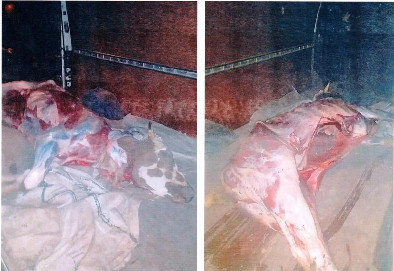 В Шамкире обнаружили сотни килограммов опасного мяса