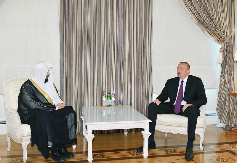 Президент Ильхам Алиев принял министра юстиции Саудовской Аравии