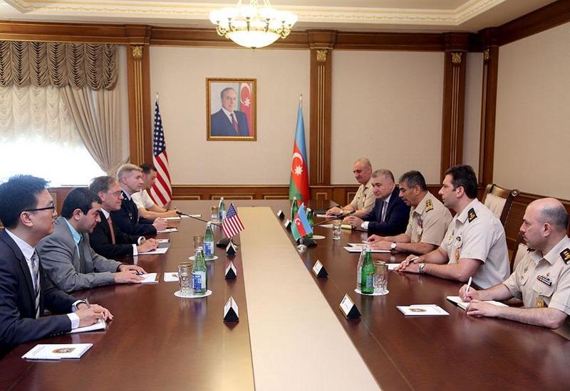 Закир Гасанов на переговорах с послом и новым военным атташе США
