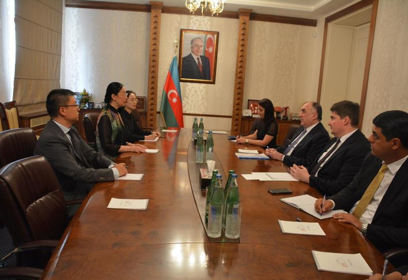 Эльмар Мамедъяров принял новоназначенного посла Китая в Азербайджане