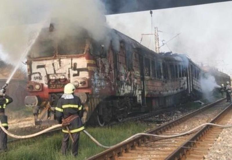 На железнодорожном вокзале в Гяндже произошел пожар