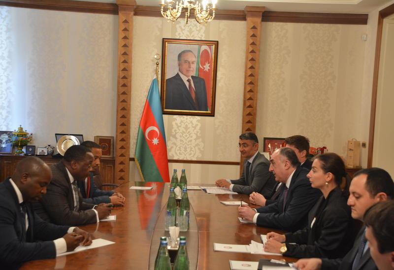 Эльмар Мамедъяров на переговорах с госсекретарем Экваториальной Гвинеи
