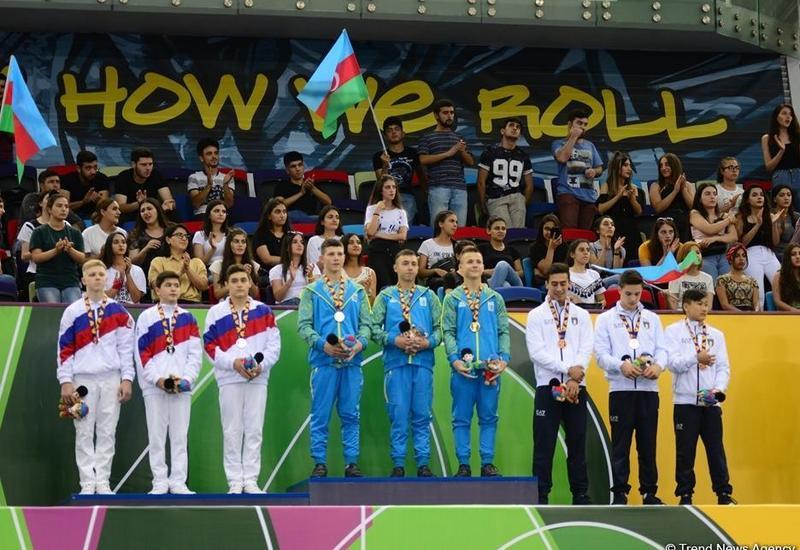 EYOF Баку 2019: Состоялась церемония награждения победителей соревнований по спортивной гимнастике в командном зачете