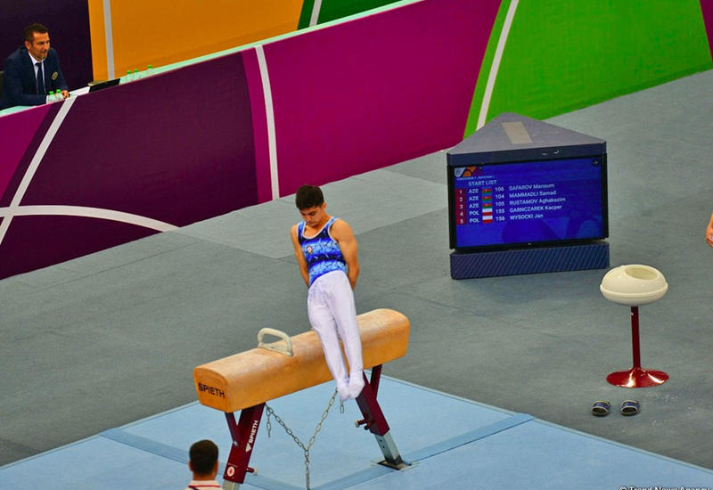 """В рамках """"EYOF Баку 2019"""" в Национальной арене гимнастики стартовали соревнования по спортивной гимнастике"""