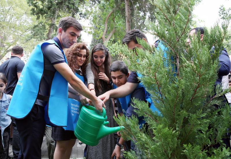 Вице-президент Фонда Гейдара Алиева Лейла Алиева приняла участие в открытии очередного благоустроенного двора в рамках проекта «Наш двор»