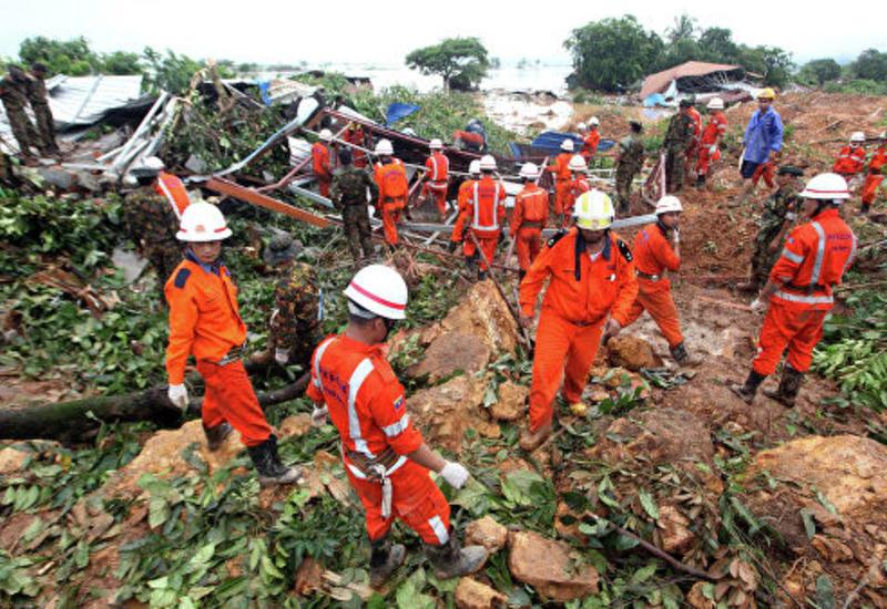 Число погибших в результате оползня в Мьянме возросло до 65 человек