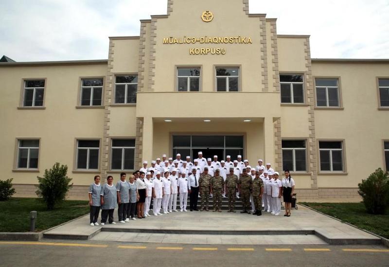 Закир Гасанов на открытии нового военного госпиталя в прифронтовой зоне