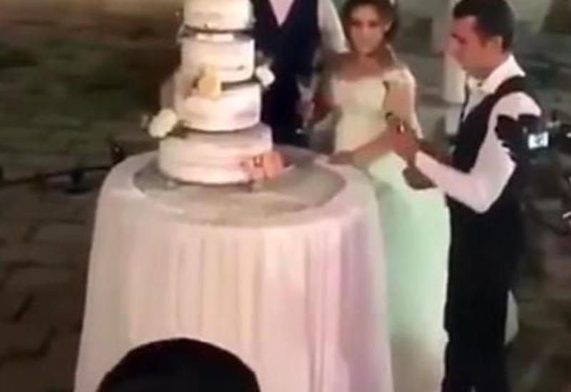 Эффектный и неожиданный трюк для молодоженов на свадьбе