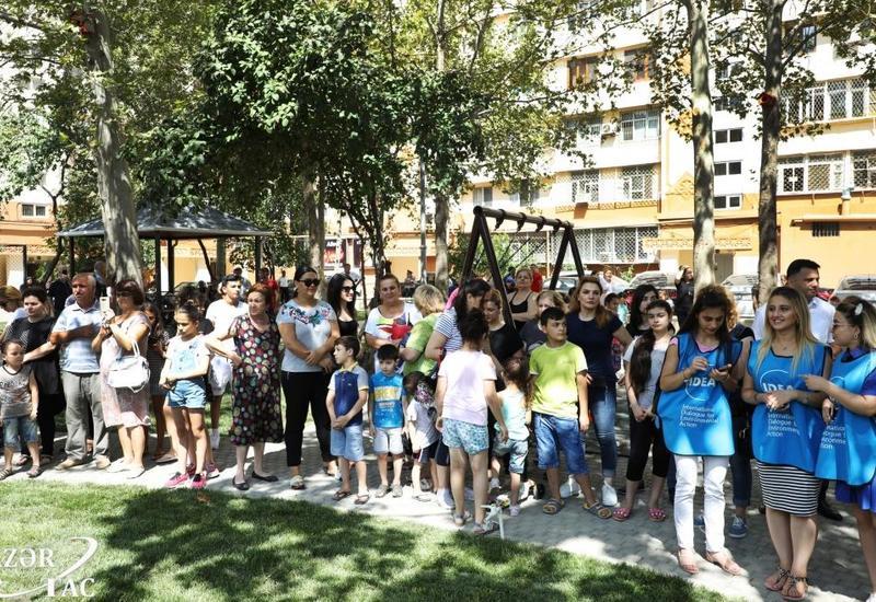 В Бинагадинском районе Баку в рамках проекта «Наш двор» передан в пользование жильцов очередной благоустроенный двор