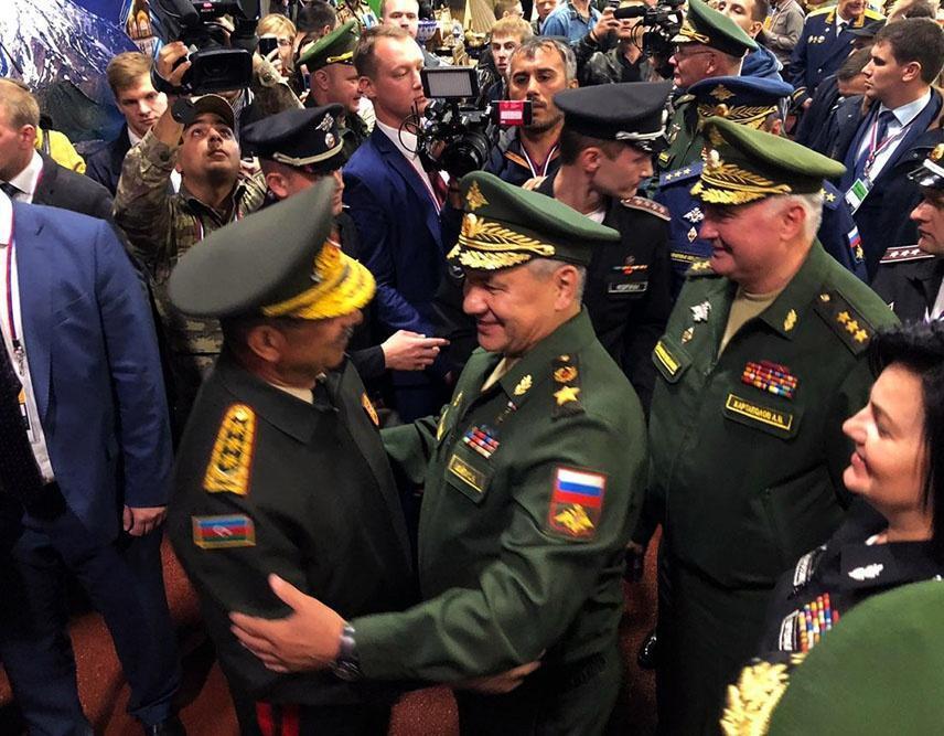 Закир Гасанов на церемонии закрытия Армейских международных игр-2019