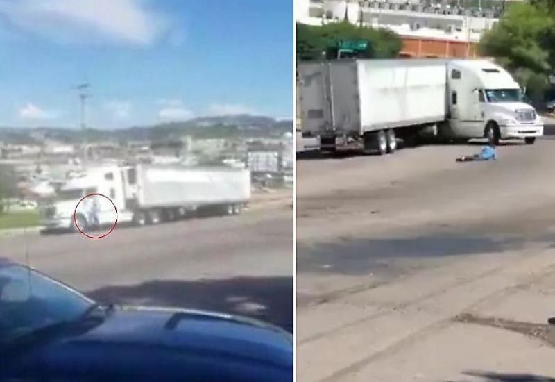 Водитель «сбежавшего» трейлера не успел догнать свой грузовик