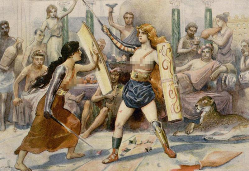 Почему женщины-гладиаторы бились топлес?