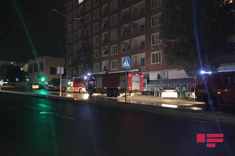 Пожар в известном бакинском маркете, есть пострадавший