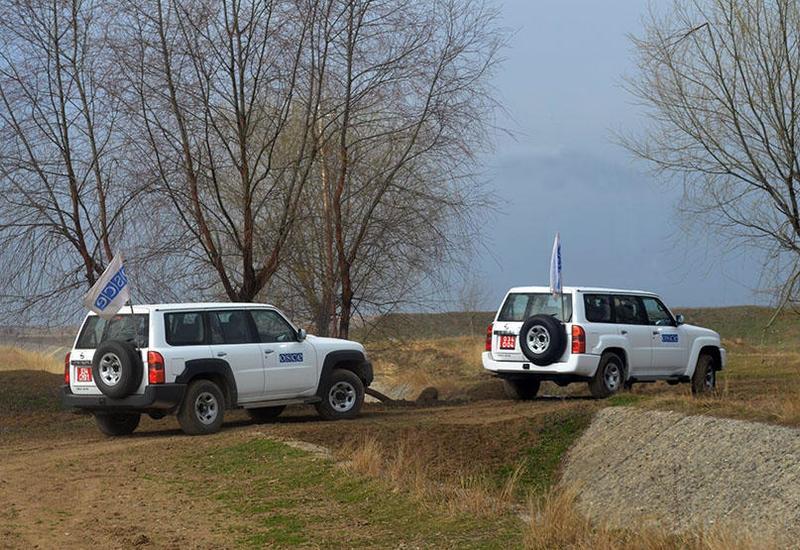 ОБСЕ провел мониторинг на линии соприкосновения ВС Азербайджана и Армении
