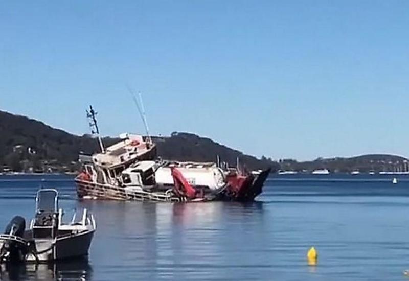 Судно перевернулось и затонуло возле берегов Сиднея