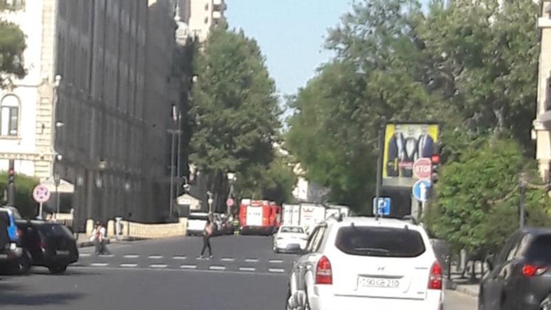 Пожар в центре Баку