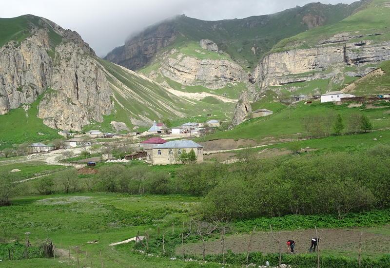 Красоты Азербайджана: невероятный пейзаж села Лаза в Гусарском районе