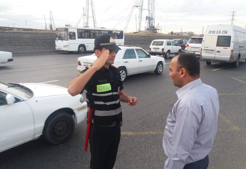 Дорожная полиция Баку проводит профилактические мероприятия